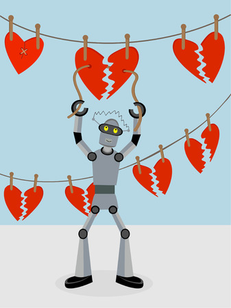 mending: Robot repairing strings of broken hearts