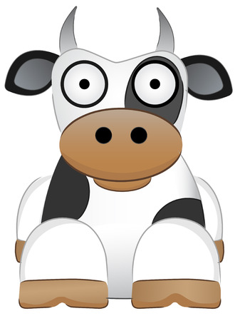 Cow with big eyes Chinese New Year Animal Ilustrace
