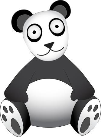 Panda Bear sitting - Stuffed Animal Like Toy