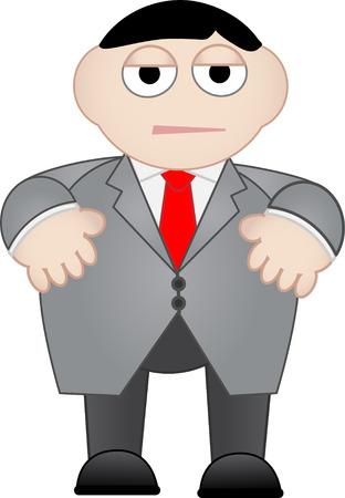 dull: El hombre de negocios aburrido y Descontento Vectores