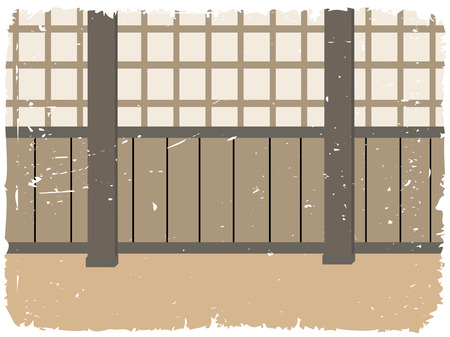 aikido: Dojo training room traditional martial arts environment with pillars