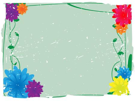 Flowery Grunge Vector Background Vector