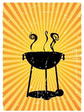 Rauchen Grill Herd vector background mit Ecken und Kanten Standard-Bild - 5377330