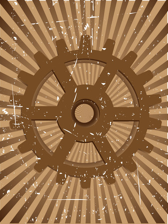Gear Grunge Steampunk Vector Background