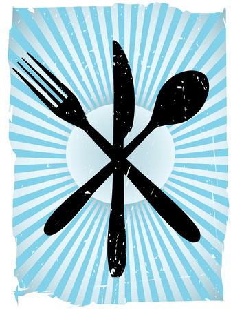 Cutlery Grunge Vector Background