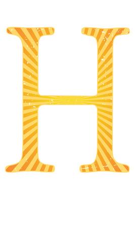 grainy: Alphabet grungy grainy letter bright colorful Illustration