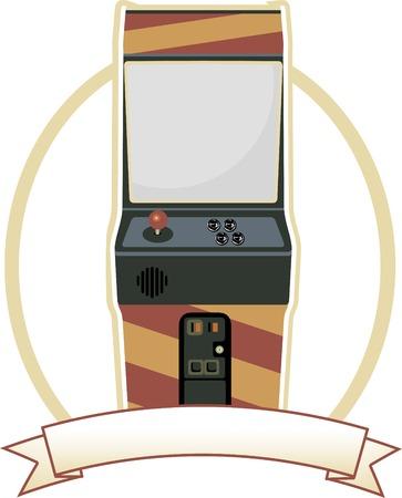 joypad: Insignia de oval de gabinete para Video Arcade