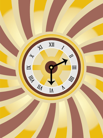 numbers abstract: Clock Swirl Gold Brown  Illustration Background Illustration