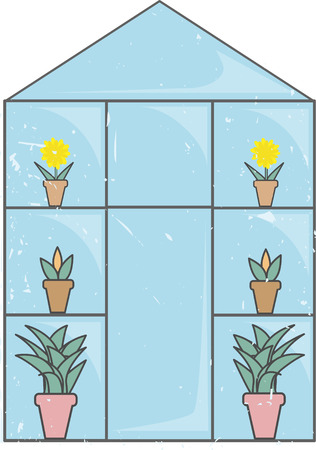 the greenhouse: Blue Glass Greenhouse light grunge