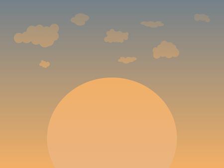 Soft dusky sun set with clouds Stock Vector - 7606120