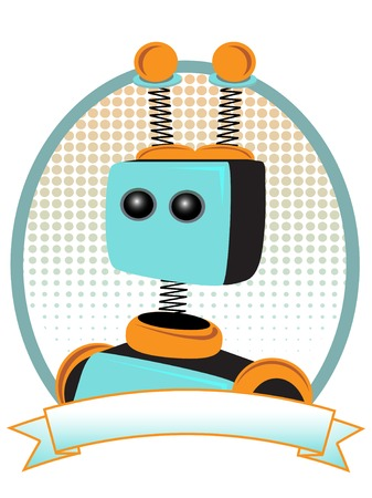 Teal and Orange Robot Portrait Product Advertisement Style