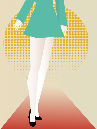 Abstract female featuring lower body long legs abstract set Vector