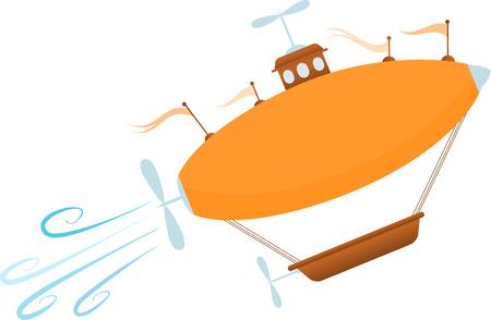 sores: Brillante fumetto Fantasy dirigibile piaghe fino Vettoriali