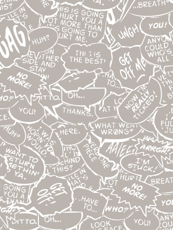 chat: reserve comic book bubble dialogue in white and gray editable vector illustration