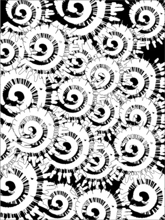 Multiple messy splats black and white editable