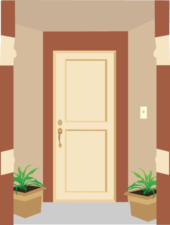 住宅の玄関  イラスト・ベクター素材