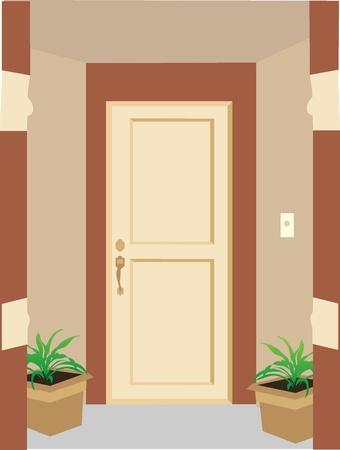 Residential entrance doorway