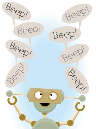 kooky: Insane cute robot saying beep