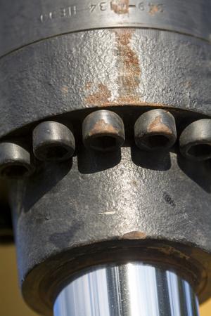 Hydraulic piston on bulldozer Reklamní fotografie