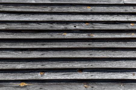 Wood siding on building