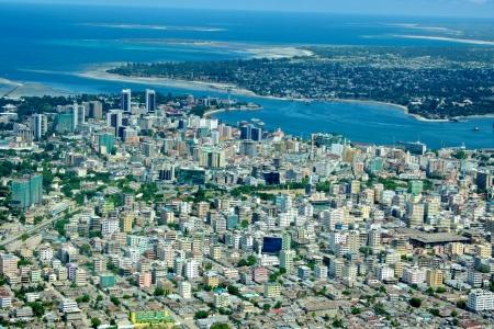 city location: aerial view of dar es salaam Stock Photo