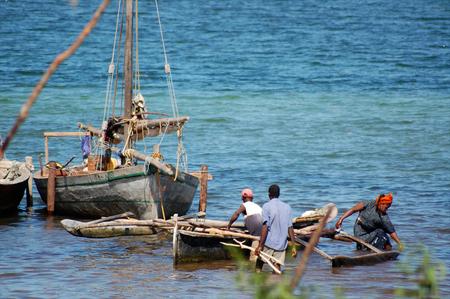 local fishermen dhow in tanzania photo