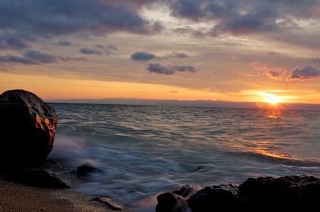 tanganyika: african sunset
