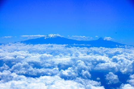 タンザニアの山 写真素材