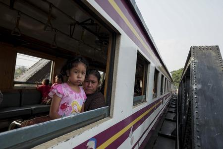 Train cross Kwai River Kanchanaburi