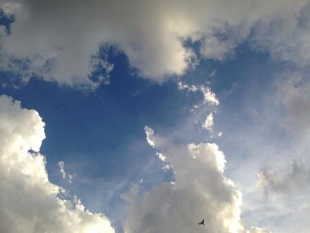 colour: Bright white Clouds