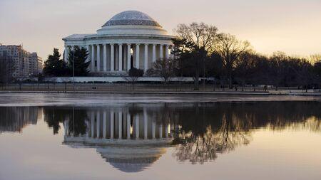 The Jefferson Memorial at Sunrise in the Winter (Closeup)