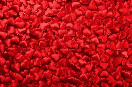 Tiny red Valentine hearts Stock Photo