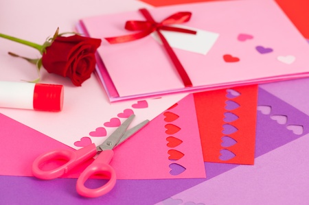 Valentine envelopes  Stock Photo