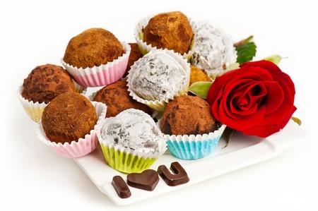 Valentine truffles photo