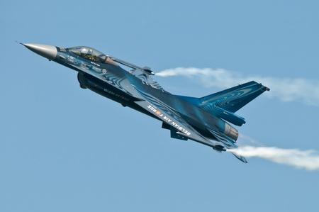 Radom, Poland - August 27, 2011: Belgian Air Force F-16 during Air Show Radom 2011 Stock Photo - 11988257