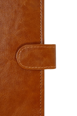 Brown leather organizer closeup photo