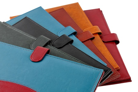 Colorful leather covers photo