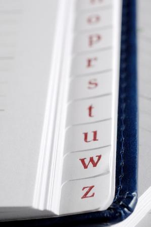 adresses: Phone book closeup