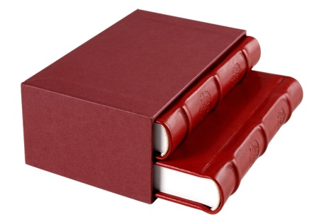 Red leather diaries photo