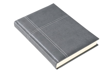 Grey notebook Stock Photo