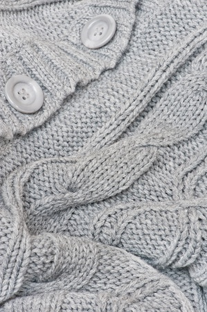 Knitted sweater closeup photo