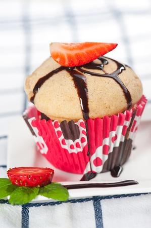 Strawberry muffin Stock fotó