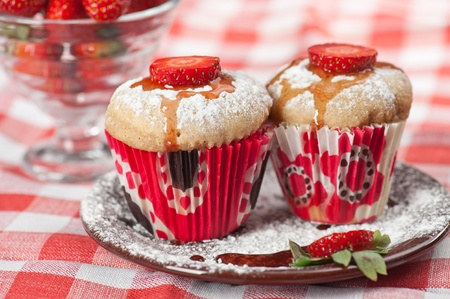 Strawberry muffins Stock Photo - 12441798