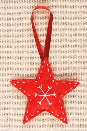 Red handmade Christmas tree decoration Stock Photo - 16766037