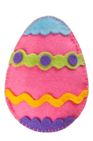 Húsvéti tojás díszítése kézzel készült éreztem elszigetelt fehér
