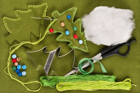 xmas crafts: Do it yourself Christmas felt decoration
