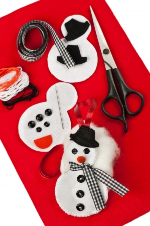 DIY Christmas felt decoration Stock Photo - 17165316