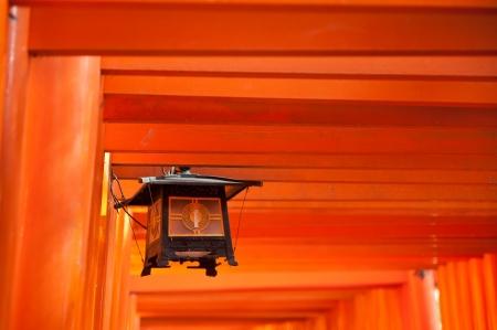 Lámpás a Fushimi Inari szentély