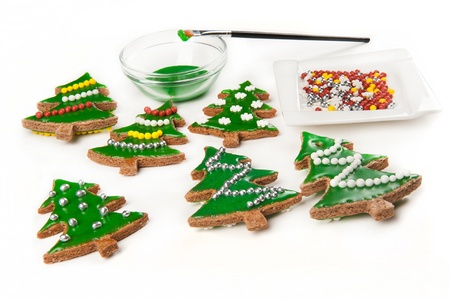 Homebaked gingerbread cookies for a Christmas Tree