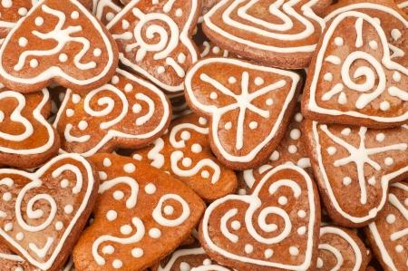 Homebaked karácsonyi mézeskalács sütik Stock fotó